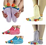 Sportmaking High Quality Store Womens 5-Toe Socks Yoga Gym Non Slip Massage Full Grip Socks