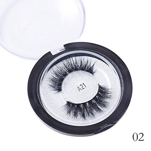 Blue Vessel Dreidimensionale Mehrschichtige Falsche Wimpern Weich und Komfortabel 3D Nerz Haar (A21) (Long-wear Makeup Remover)