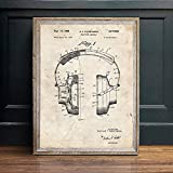 Poster,Music Recording Vintage Blueprint Posters and Prints,Music Room Wall Art Painting,Decor Wall Pictures Bar Retro Poster A 32X40Inch(80X100Cm)