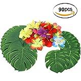 Sinoem 90 Stück Tropical Party Dekoration liefert 14