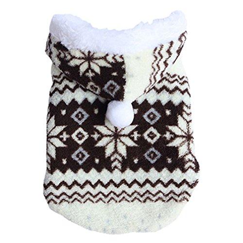 alkyoneus Weich Schneeflocke Winter Warm Pet Hund Kleidung Jacke Hoodie Mantel Kostüm (Groomer Kostüm Pet)