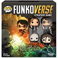 Funko 42631 Harry Potter 100 Funkoverse (4 Character Pack) ENGLISH Board Game, Multi Colour
