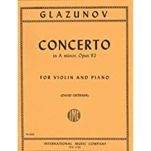 Glazunov Alexander Concerto in a minor Op. 82 Violin and Piano by David Oistrakh - International
