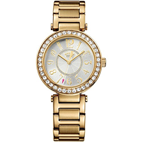 Juicy Couture 1901151 Ladies Luxe Couture Stone Set Gold Tone Watch