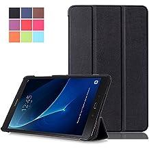 Carcasa Galaxy Tab A 10.1'' ,Samsung Tab A6 Funda - Flip Cover de PU Cuero Smart Case Protección Stand Funda para Samsung Galaxy Tab A 10.1 Pulgadas (2016) SM-T580N / T585N Tablet,Negro