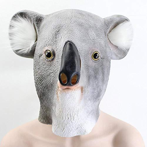 QJXSAN Koala Maske Latex Maske Weihnachten Maske Prom Tierform Maske Partyartikel