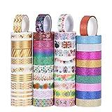 YEAHIBABY 40 Rouleau Washi Tape Set,Ruban Adhésif Papier Décoratif Masking tape pour bricolage Scrapbook artisanat et emballage cadeau