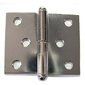 PVM - Paumelle de meuble acier nickelé 30 x 40 mm - gauche - Lot de 2