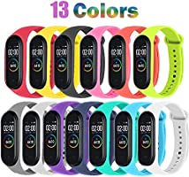 BRone Pulsera para Xiaomi Mi Band 3 / Mi Band 4, Coloridos Impermeable Reemplazo Correas Reloj Silicona Correa para...