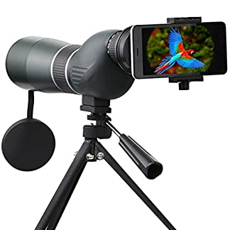 Spotting Scope Telescope,SGODDE 15-45X 60 Waterproof Zoom Single Tube Telescope Monocular Hd with Tripod Softcase and Digiscoping Adapter -Record the Nature of the World