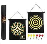 Cotechs wendbar Magnetische Dartscheibe–Geschenk mit Box, einfach aufzurollen und speichern Darts