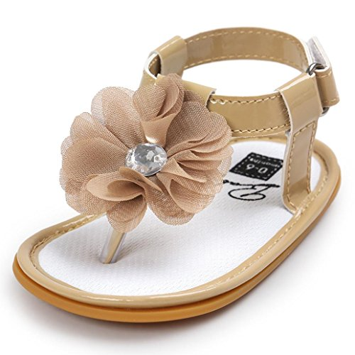 ♥ Loveso ♥ 2017 Baby Shoes Neugeborenes Baby Blume Geformt Sandale Khaki