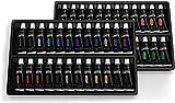 Scatola di colori acrilici Castle Art Supplies - 48 colori accesi con tubetti più grandi - Confezione deluxe di colori acrilici per artisti, principianti o bambini