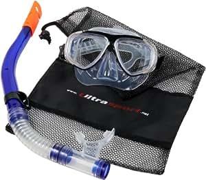 Ultrasport Caribean Set de Snorkel mixte adulte Bleu foncé