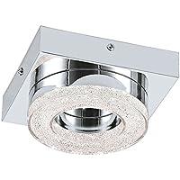 LED Wohnzimmer Decken Lampe Kristall klar Flur Bad Leuchte chrom 48249