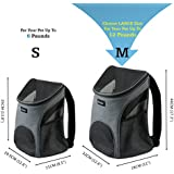 Becko Cat Rabbit Dog Pet Carrier / Mesh Pup Pack / Soft-sided Outdoor Travel Backpack for Pet (Large)