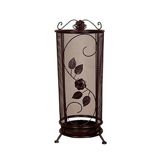 Schmiedeeisen Fass (Umbrella standDY Dongy Maschen-Schmiedeeisen-Regenschirm-Stand-Hall-Speicher-Regenschirm-Fass, Runde Bronze 25cm * 65cm)