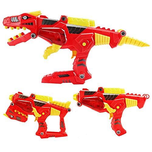 NROCF Pistola Giocattolo per Bambini, Kit di Costruzione del Dinosauro, Musica Elettrica Suono E Giocattolo Leggero, Assemblaggio di Smontaggio Giocattolo per Bambini,Tyrannosaurusrex