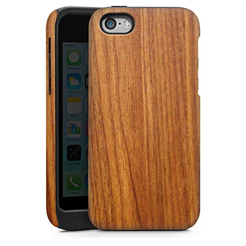 Apple iPhone 5s Housse étui coque protection Bois de mélèze Grain Look bois Cas Tough brillant
