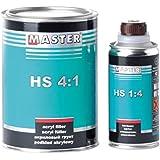 Master troton 2K acrílico pluma Imprimación Primer HS 4: 10,8L Negro + Endurecedor 0,2L