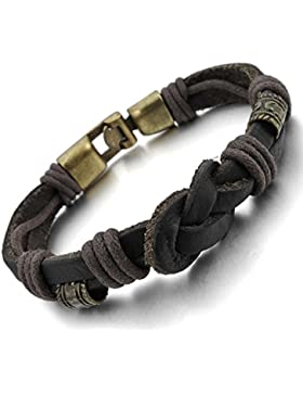MunkiMix Alloy Genuine-Leather Bracelet Bangle Rope Tribal Herren