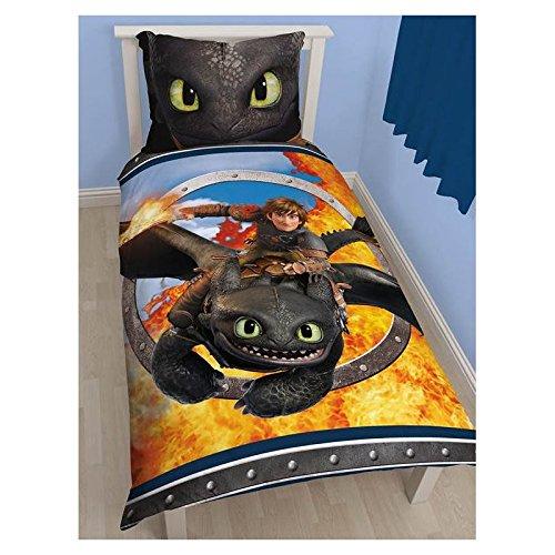 Dreamworks Bettwäsche Dragons Toothless 135 x 200 cm + 80 x 80 cm NEU & OVP Ohnezahn - Die Drachenreiter von Berk - deutsche Standardgröße