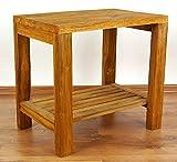 Java Beistelltisch aus Teakholz | Massivholztisch mit Ablage | Nachttisch der Marke Asia Wohnstudio | Blumenpodest | Massivholztisch aus Teakholz