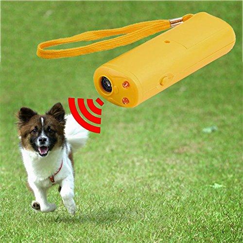junkai Ultraschall Hunde Repeller, Hohe Qualität 3 in 1 Anti Bellen Stopp Bark Ultraschall Haustier Hund Repeller Trainingsgerät Trainer