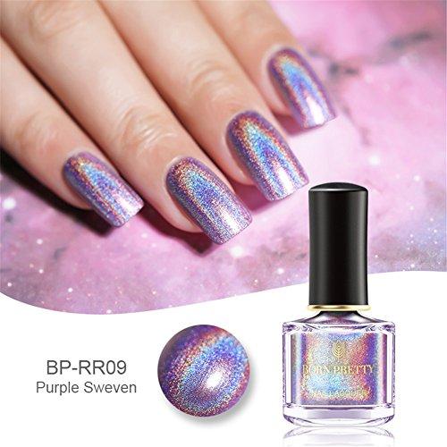 Born Pretty 6ml Holographic Holo Glitter Super Shine Nagellack Polish Neu H009
