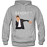 Shunta Williams Men's Brad Pitt Cotton Hoodies Sweatshirts Grey