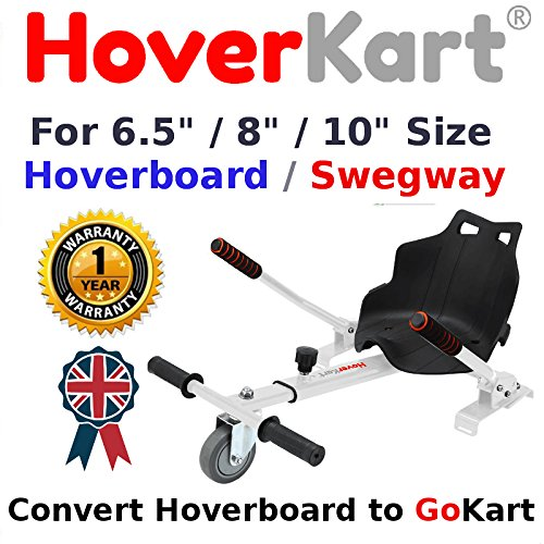 HK4 White Original Nexgboard HoverKart For Converting Swegway Hoverboard To Go Kart Attachment Seat