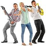 Aufblasbare Band 3-teilig Gitarre Mikrofon Saxophon inflatable Band