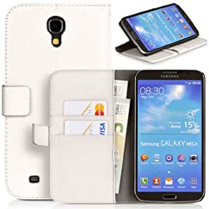 Donzo Case for Samsung Galaxy Mega 6.3 GT-I9200 / GT-I9205 white WALLET STRUCTURE