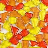 MAGIC SHOW 100G 65PCS Kristallglasmosaik -Fliesen-Formen-Mehrfarbenkristall Verschiedene TO342 (orange)