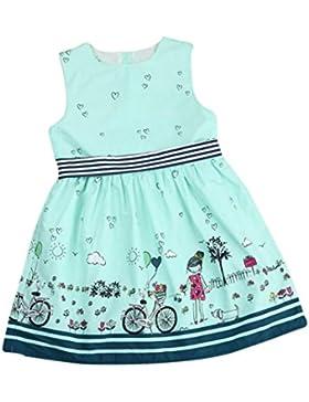 [Patrocinado]Vestidos para niñas, Dragon868 Lindo bebé chica sin mangas de dibujos animados vestidos de fiesta princesa