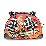Liquor Brand Womens Bowler Bag Rockabilly Pin-Up Queen of Speed Shulter Case