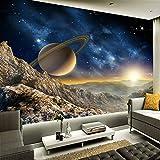 Yisj Papier peint Photo 3D Papier Peint Espace Univers Photographie Fond Décor À La Maison Mur Peinture Salon TV Mural Papier,315x232cm(WxH)