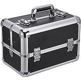 "Ollieroo Makeup Train Case Professional 14.4\"" X 8.7\"" X 9.8\"" Large Make Up Artist Organizer Kit Shoulder Bag..."