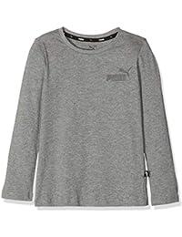 Puma ESS Logo Manga Larga té B–Camiseta, Niños, 852099, Gris Medio, 140
