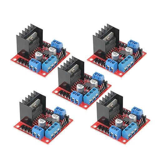 KKmoon L298N Dual H-Brücke DC Stepper Motortreiber 5er Motor Driver Module Controller für Arduino
