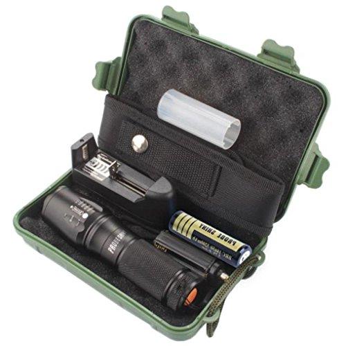 Preisvergleich Produktbild Goodsatar X800 Zoomable XML T6 LED Taktische Taschenlampe + 18650 Akku + Ladegerät + Gehäuse