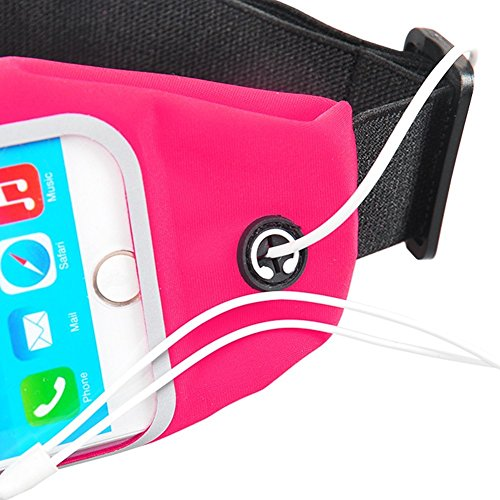 Gürteltasche Bauchtasche für Smartphone Hüfttasche Handy Sport Waist Bag Street Case Jogging , Farben:Schwarz;Für Handy Modell:Apple iPhone 6 Plus - 6s Plus Pink