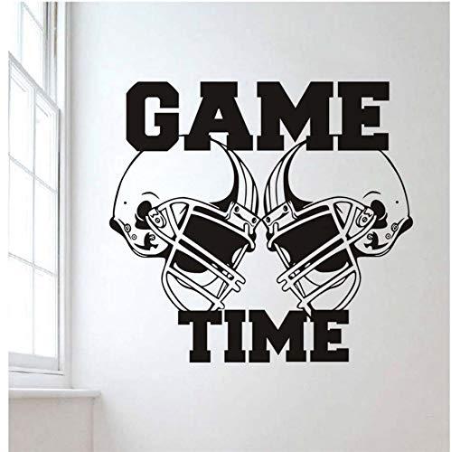 AELAHER Wandtattoo Vinyl Aufkleber Gym Sport Rugby American Football Spiel Zeit Dekor Kinderzimmer Wandaufkleber 62 * 57 cm
