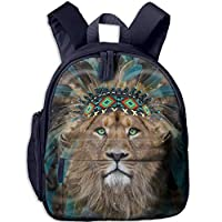 Lion Double Zipper Waterproof Children Schoolbag Backpacks with Front Pockets for Teens Boys Girl