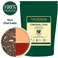 Hoja original india Masala Chai - 50 tazas, 100 gramos - Mezcla perfecta de té negro, canela, cardamomo, clavo y pimienta negra - Receta para la antigua casa india - De la India