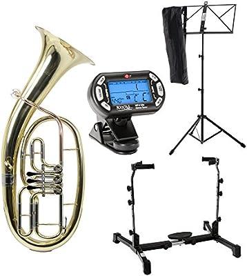 Classic Cantabile TH-33 fiscorno, set con soporte para instrumento, metrónomo y atril