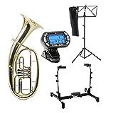 Classic Cantabile TH-33 corne de ténor SET avec support instrument, accordeur/métronome et pupitre