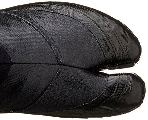 MARUGO Jitsuyou Japanische Tabi Schuhe KOMPLETT Schwarz mit 12 Clips Schwarz