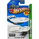 2013 Hot Wheels Hw Imagination Star Trek - U.S.S. Enterprise NCC-1701 Battle Damaged - New! by Mattel