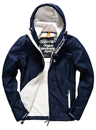 SUPERDRY Hooded Windtrekker, Giacca Uomo, Eclipse Navy/Ecrujzk, M